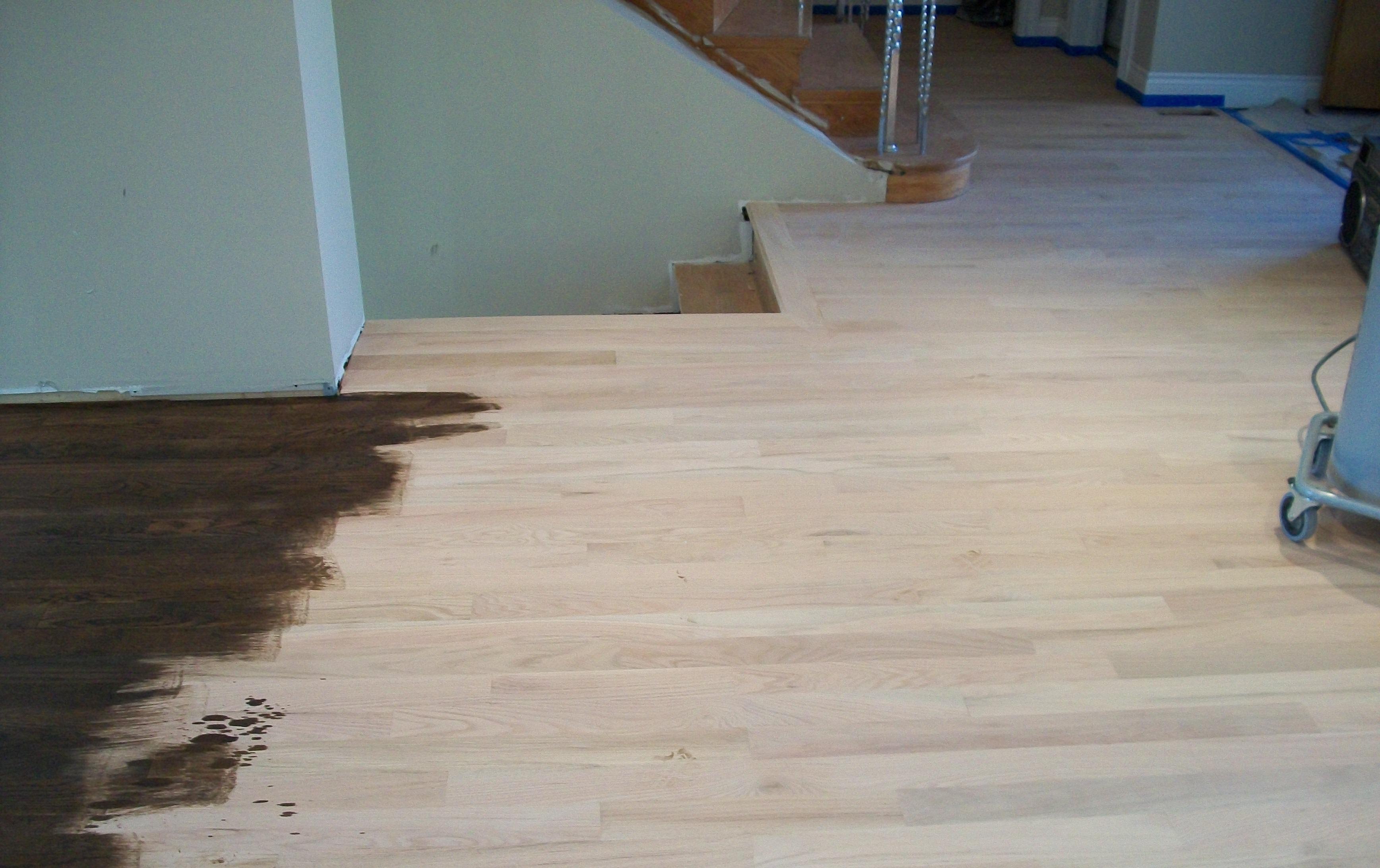 Staining Hardwood Floors Fresh And Clean Dustless